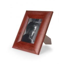 ramka do zdjęć szeroka zaokrąglona 15x15 mahoń