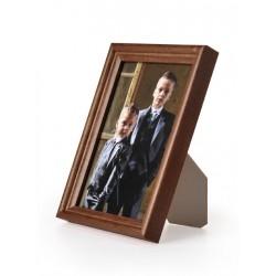Ramka drewniana wąska 104, ciemny brąz 13x18