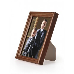 Ramka drewniana wąska 104, ciemny brąz 15x21