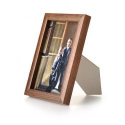 Ramka drewniana wąska 101, ciemny brąz 13x18