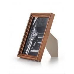 Ramka drewniana wąska 105 średni brąz 13x18