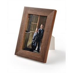 Ramka do zdjęć drapowana 201d, 21x30 ciemny brąz